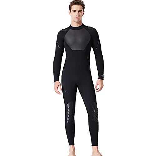 Traje de Neopreno Hombres de 3 mm con Cremallera en la Espalda Traje de baño de una Pieza para esnórquel Largo, Adecuado para esnórquel, Surf, Kayak (Medium,Masculino)