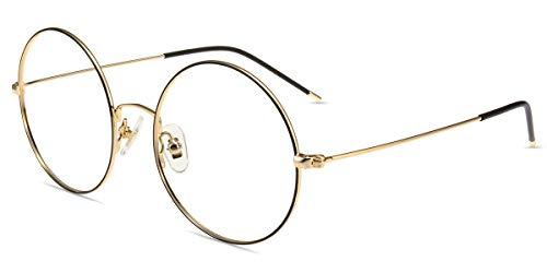 Firmoo Anti Blaulicht Brille ohne Sehstärke Silver-Schwarz, Blaulichtfilter Computerbrille Anti Augenmüdigkeit Entspiegelt, Blaufilter UV Schutzbrille für Bildschirme Metallbrille