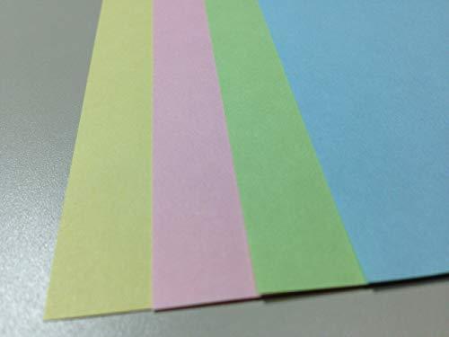 山櫻 カラープリンタ帳票用紙 500枚 2分割 (マイクロミシン目ヨコ1本) ファイル穴4個付 A4サイズ ピンク