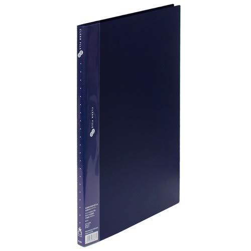 プラス クリアーファイル スーパーエコノミー 20ポケット B4縦 ネイビー FC-112EL NV 【まとめ買い3冊セット】