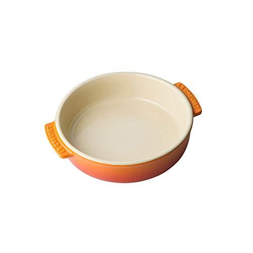 Le Creuset Plato para tapas, Redondo, 500 ml / Ø 14 cm, Cerámica de gres, Naranja Volcánico