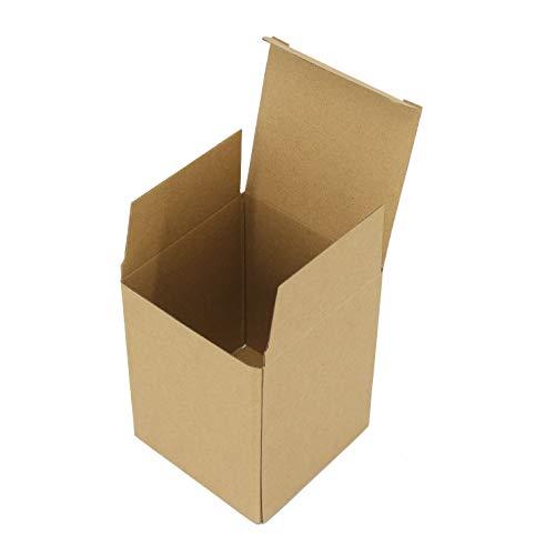 Caja de Carton para Empaquetar o Guardar Cosas,Medida 10x10x13cm y de Color Kraft. (20)