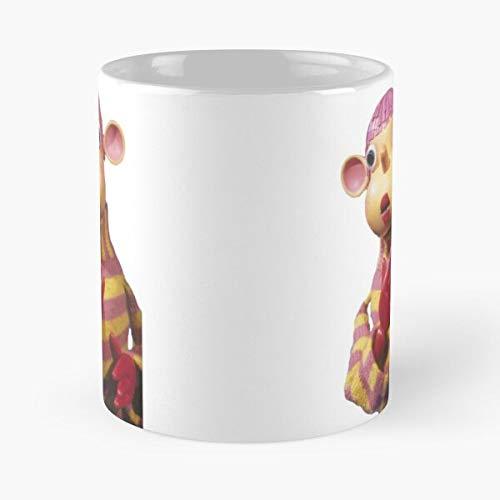 Santa Childrens Icon POB Book Tv Secret Vintage Best 11 Ounce Ceramic Coffee Mug Best - Taza de café (350 ml), diseño de café