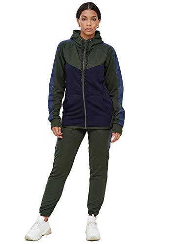John Kayna Damen Jogginganzug | Streetwear | Fitness | Sportanzug | Hoodie-Sporthose | Jogging-Anzug | Trainings-Anzug | Jogging-Hose | Modell 1053AC-JK (Grün, XL)