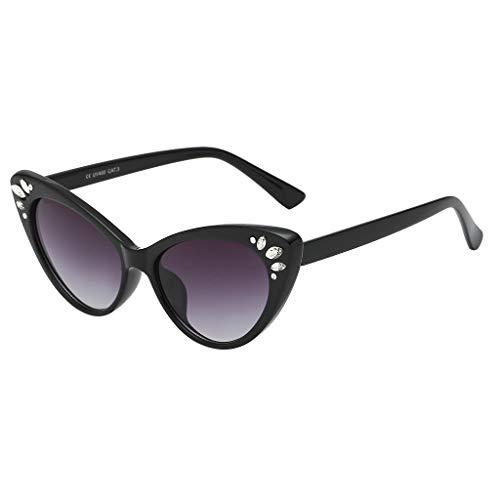 longzjhd Frauen Weinlese Auge Sonnenbrillen Retro Brillen Mode Strahlung Schutz Sunglasses Frame Sonnenbrille Sonnen-Überbrille Sonnenbrille Cat-Eye Designer-Brille Katzenaugen