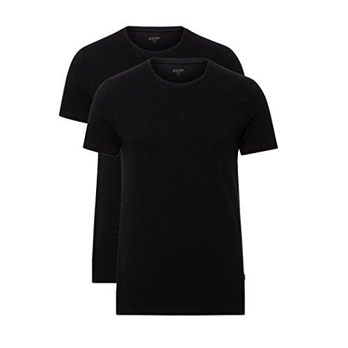 JOOP! Herren 2er-Pack Fine Cotton Stretch Rundhals T-Shirt, Unterhemd, Einfarbig: Farbe: Schwarz | Größe: 6 (Large)
