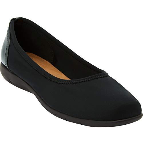 Comfortview Women's Wide Width The Lyra Flat Shoes - 10 WW, Black