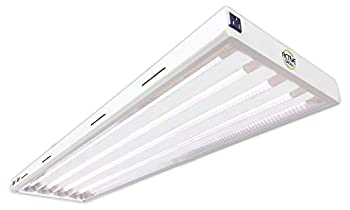 Active Grow T5 LED Grow Light Fixture for Indoor Gardens Hydroponics & Vertical Racks - Contains 4 X 25W  54W Rep  T5 HO 4FT LED Tubes - Sun White Full Spectrum  High CRI 95