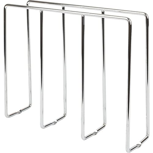 Hardware Resources Polished Chrome U-Shapred Tray Divider for Organizing Baking Sheets, Trays, and Cutting Boards. Bottom Mounting.