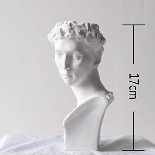 Z-MIN Apollo Human Face Vase La Marseillaise Art Vase Giuliano de' Medici Vase Display Room Decorative Figue Head Shape Vase,17cm No Flowers