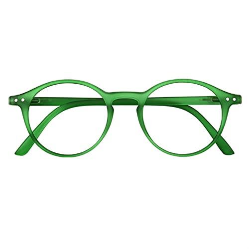siqiwl Gafas de lectura, Gafas de Lectura Mujeres Hombres Retro Glasse Transparente Moda Gafas de Ojos Europa Elegante Anti-Azul Luz (Color: 0, Tamaño: Verde Oscuro)