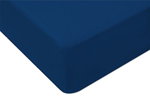 MODHAUS, lenzuolo con angoli, in jersey , Cotone, Kornblume, 170-180x2000