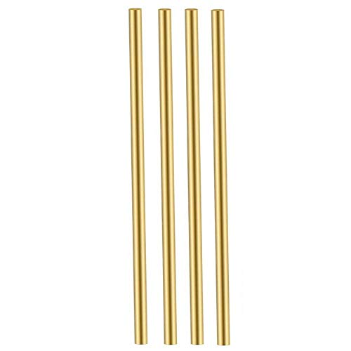 5MM Brass Round Stock Solid Brass Rods Lathe Bar Stock Kit 5mm /13/64 inch in Diameter 12 Inches in Length,C36000,4PCS