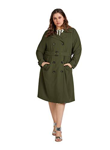 Zizzi Damen Große Größen Jacke mit klassischem Gürtel und Knöpfen Gr 42-56