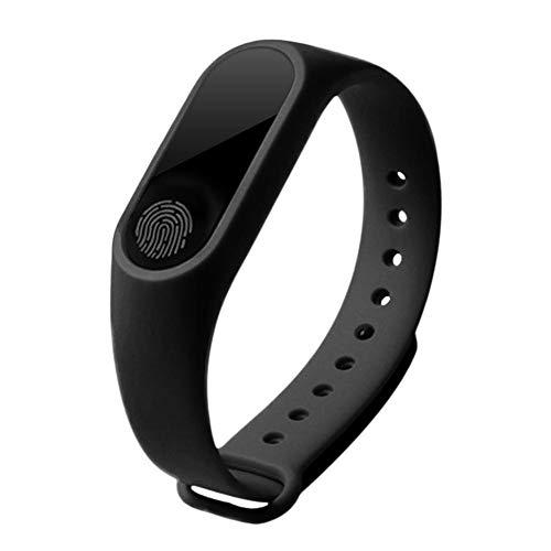 Pulsera de fitness Kardu.C-Elektronik – Rastreador de fitness con pulsómetro, resistente al agua, pantalla a color, podómetro, SMS