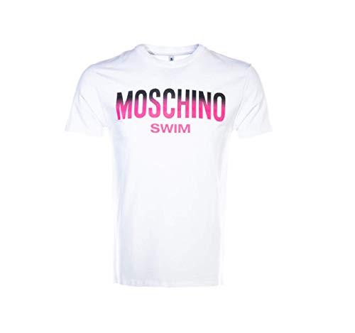 Moschino T-Shirt Uomo Bianca con Logo 1902 Bianco XS