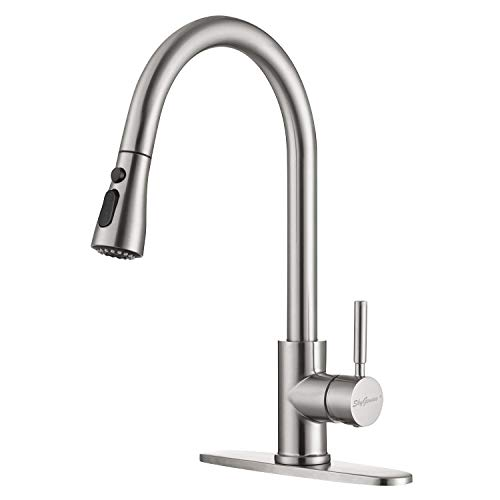 Kitchen Faucet, Single Handle Stainless Steel Kitchen Sink Faucet with Pull Down...