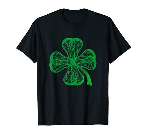 Lacrosse Sticks Shamrock clover irish lucky Lax T-Shirt gift T-Shirt
