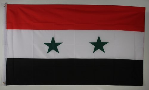 Buddel-Bini Flagge Fahne ca. 90x150 cm : Syrien Nationalflagge Nationalfahne