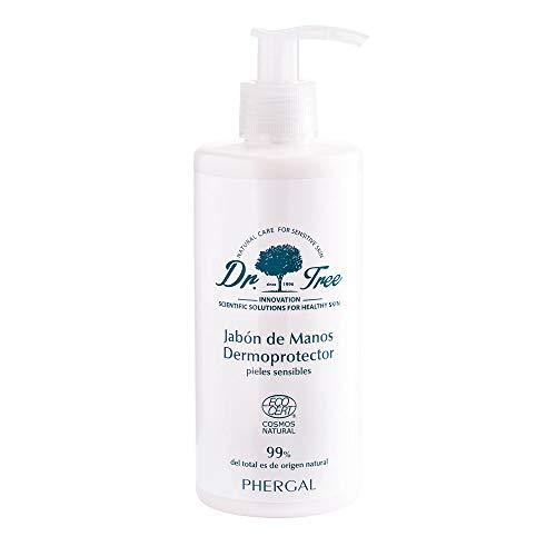 Dr. Tree Jabón de Manos Dermoprotector - Respeta y Restaura la Barrera Cutánea de tu Piel | Hipoalergénico, Higienizante y Ecológico | Jabón Líquido Antibacteriano | 99% Ingredientes Naturales - 300ml