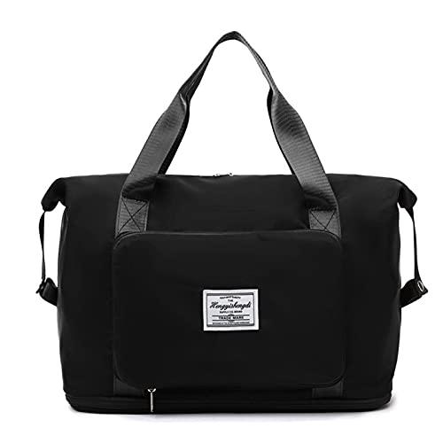 Borsone da viaggio pieghevole di grande capacità impermeabile Oxford borsa a tracolla espandibile palestra borsa unisex sport borsa palestra borsone sport per bambini ragazze donne