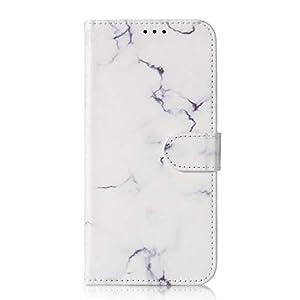 Lomogo [Huawei P30 Pro] Hülle Leder, Schutzhülle Brieftasche mit Kartenfach Klappbar Magnetverschluss Stoßfest Kratzfest Handyhülle Case für Huawei P30Pro – LOYHU020121#1