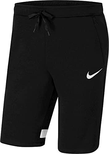 NIKE Strike 21 Fleece Short Pantalones Cortos, Negro y Blanco, XL para Hombre