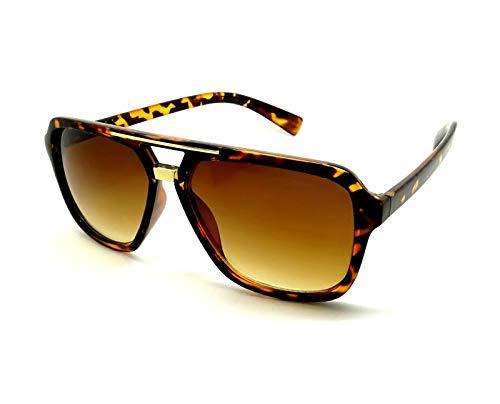 Gafas de sol marrón EVIDENCE POLICE FASHION MILLIONARIO oro negro deporte moda lux.