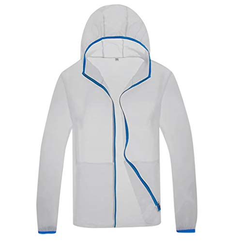 KPILP Unisex Herren Damen Leichte Hoodie Regen Jacke Wasserdicht Atmungsaktive Outdoorjacke Lüfter Kühlung Jacke Sportjacke Outwear Sonnenschutz