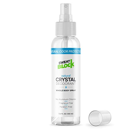 Natural Crystal Deodorant Spray by SweatBlock