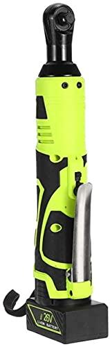aedouqhr Llave de trinquete eléctrica Inalámbrica, Kit de alimentación inalámbrica de 26 V 45 NM Recargable de Alto par para fábricas Modificación de automóviles, Voltaje 220 V