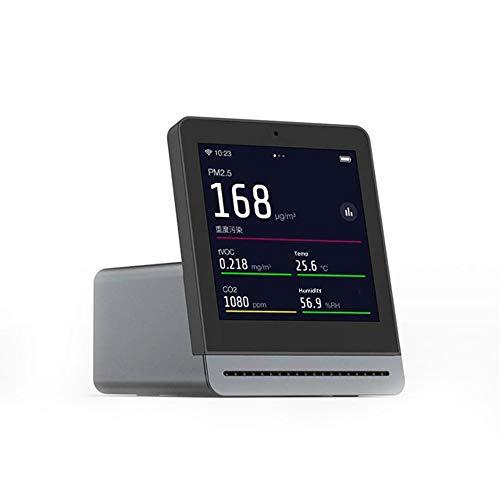Cleargrass 3,1-Zoll-IPS-Touchscreen-Smart-Luftqualitätsdetektor mit Temperatur und Luftfeuchtigkeit, PM2,5, tVOC, Überwachung des Kohlendioxidwerts (Grau)
