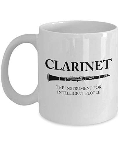 N\A Clarinet The Instrument For Intelligent People Taza de café, Blanco