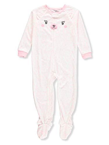 Carter's Toddler Girls Cheetah-Print Footed Pajamas 4T