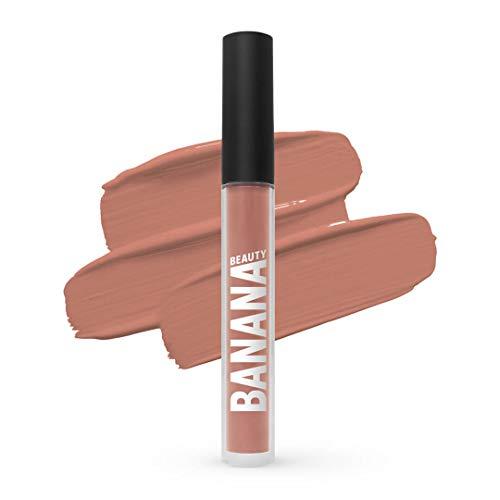 Banana Beauty Nananaked (3 ml) – Semi Matte Liquid Lipstick – kussechter Lippenstift Nude für volle Lippen – wunderschöner Lipgloss matt – natürlicher Nude-Ton