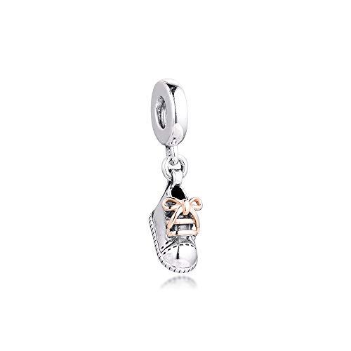 LIIHVYI Pandora Charms para Mujeres Cuentas Plata De Ley 925 Zapato De Bebé Cuelga El Regalo De La Joyería De Bricolaje Compatible con Pulseras Europeos Collars