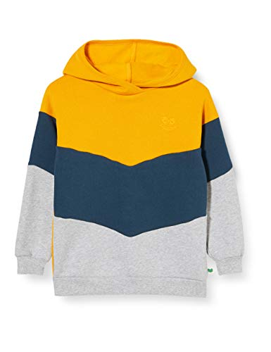 Fred's World by Green Cotton Boys Sweat Hoodie Hooded Sweatshirt, Sunflower, 140