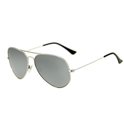 LianSan Metal Frame UV Protección Gafas de sol polarizadas espejo aviador lsp025