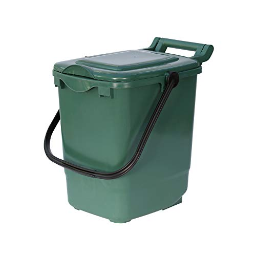 Large Compost Caddy - Green - for Food Waste Recycling (23 Litre) - 23L...