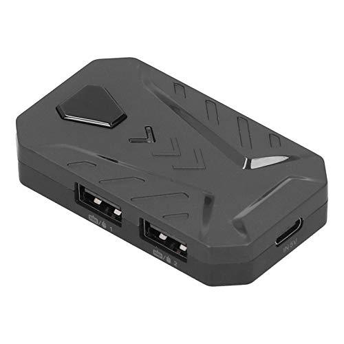 Heayzoki Gaming Keyboard Mouse Converter, USB 2.0 Mobile Gaming Keyboard Mouse Converter Adapter, Bluetooth 4.0, mit verstellbarem Ständer, für Android/für iOS Systerm(Schwarz)
