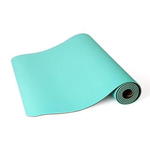 WTL Yogamatte, rutschfest, 183 x 80 cm, für Anfänger, dick, breit, lang, für Damen und Herren, Tanzen, Fitness, zu Hause, tragbar, grün, 8 mm