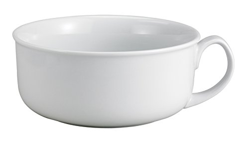 HIC Harold Import Co 98057 HIC Oversized Hotel Breakfast Bowl, 28-Ounces, Fine White Porcelain