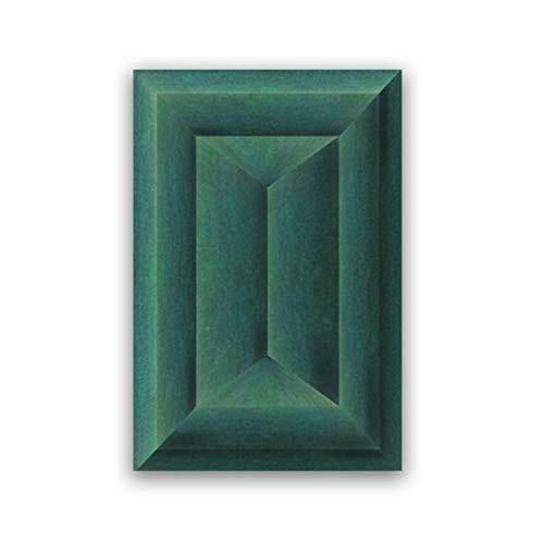 ASLKUYT Smaragdgrün Abstrakte geometrische Poster Leinwanddruck Minimalistische zeitgenössische Wandkunst Leinwand Malerei Wohnzimmer Dekor-20x28 IN No Frame