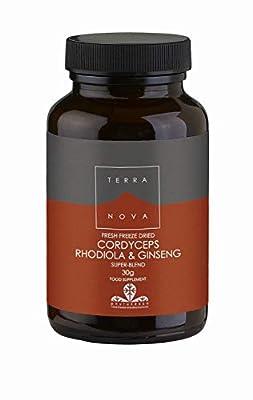 Terra Nova Cordyceps Rhodiola and Ginseng (30g powder suitable for vegetarians and vegans)