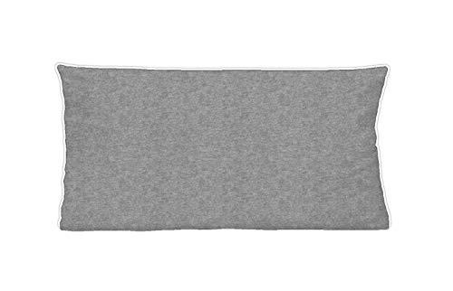 biberna 0840500 Wende-Bettwäsche Kopfkissenbezug Melange-Flanell 1x 40x80 cm sturmgrau