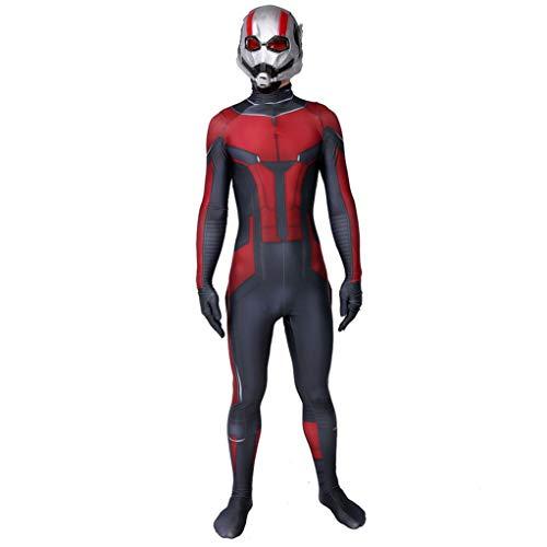 Ant-Man Fancy Dress Up Body De Scott Lang Cosplay del Traje del Funcionamiento Halloween Medias De Los Aficionados Al Cine De La Ropa De La Mascarada Cumpleaos, Deadpool-Adult XL(170~175cm)