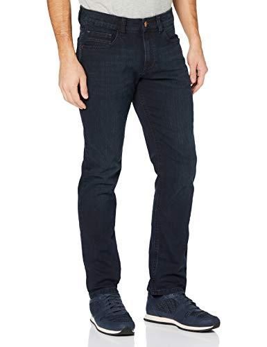 Camel Active Herren 5-Pocket Houston Straight Jeans, Blau (Blue/Black Used 43), W42/L32
