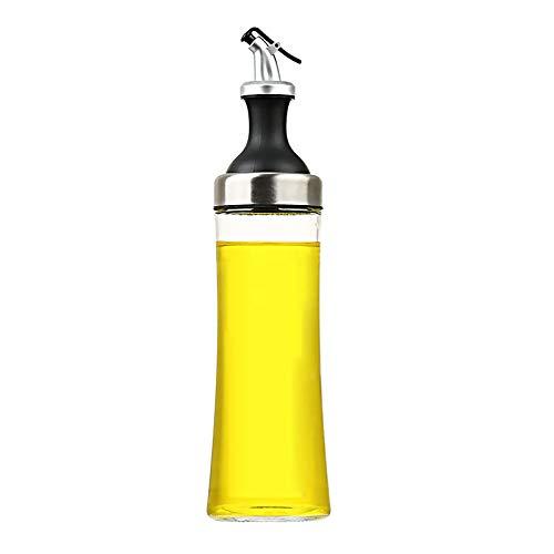 Botellas de aceite, recipiente de aceite para cocina, antideslizante, antigoteo, dispensador de condimentos de vidrio con vertedor de liberación de palanca, para aceite, vinagre, salsa de soja, miel