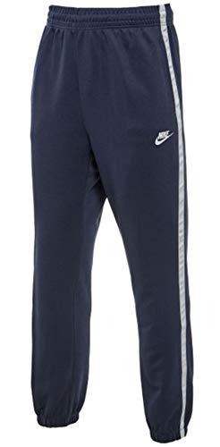 Nike Tribute PK Track, Pantalone Tuta Uomo, Obsidian/Bianco, XL