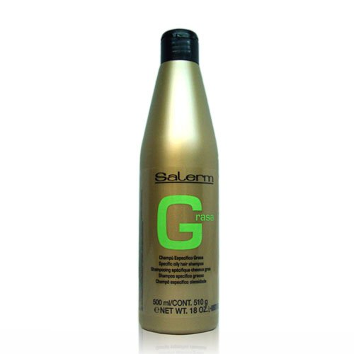 SALERM grasa específica huellas de pelo champú 500ml/18onzas
